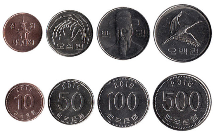korean won coins